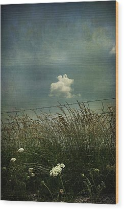 Maybe Someday I'll Float Above Wood Print by Laurie Search