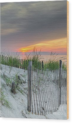 Wood Print featuring the photograph Mayflower Beach by Mike Ste Marie