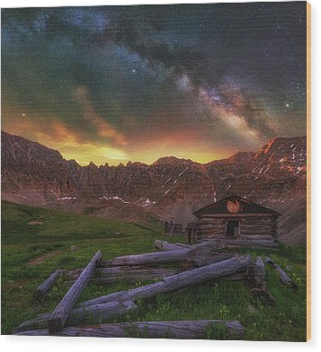 Wood Print featuring the photograph Mayflower Milky Way by Darren White