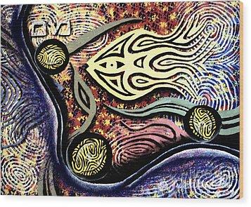 Mayim Wood Print by Luke Galutia