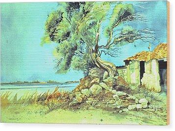 Mayorcan Tree Wood Print