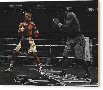 Mayweather And Pacquiao Wood Print