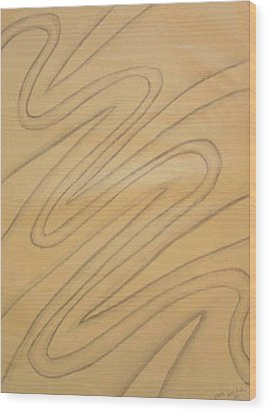 Maze Of Life Drawing Wood Print