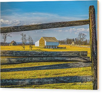 Wood Print featuring the photograph Mc Pherson Barn - Gettysburg National Park by Nick Zelinsky