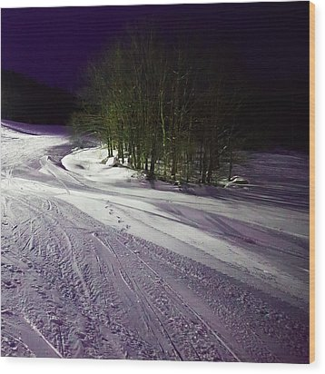Wood Print featuring the photograph Mccauley Evening Snowscape by David Patterson