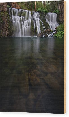 Mccloud Falls Wood Print by Dustin LeFevre