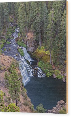 Mccloud River And Middle Falls Wood Print