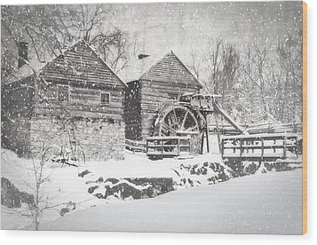 Mccormick's Farm February 2012 Series Vi Wood Print by Kathy Jennings