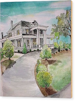 Mccree House Wood Print by Terri Kilpatrick