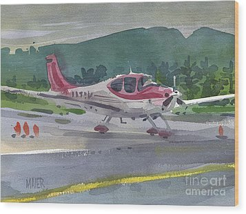 Mccullum Airport Wood Print by Donald Maier