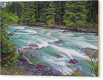 Wood Print featuring the photograph Mcdonald Creek by Gary Lengyel