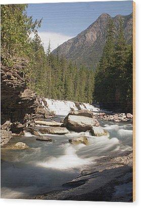 Mcdonald Creek Wood Print by Marty Koch