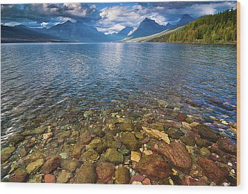 Mcdonald Lake Colors Wood Print