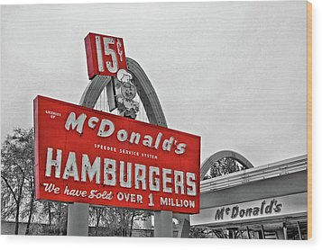 Mc Donald's Museum Wood Print