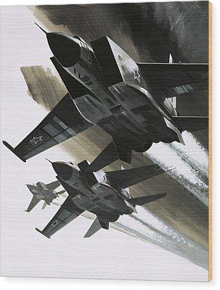 Mcdonnell Douglas F15 Eagle Jet Fighter Wood Print