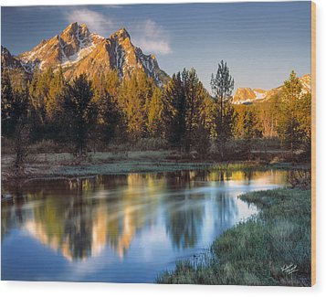Mcgown Peak Sunrise  Wood Print by Leland D Howard