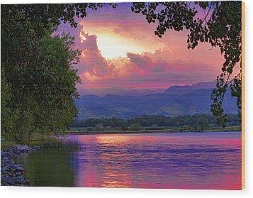 Mcintosh Lake Sunset Wood Print by James BO  Insogna