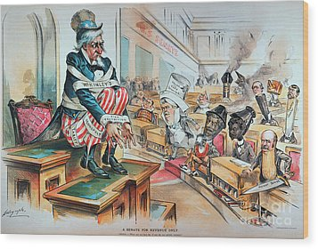 Mckinley Tariff Act, 1894 Wood Print by Granger