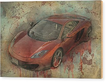Wood Print featuring the photograph Mclaren Graffiti by Joel Witmeyer
