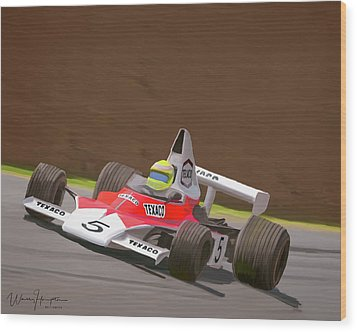 Mclaren M23 Wood Print by Wally Hampton