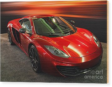 Wood Print featuring the photograph Mclaren Mph-12c Sportscar by Wingsdomain Art and Photography