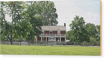Mclean House Appomattox Court House Virginia Wood Print by Teresa Mucha