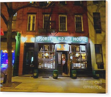 Mcsorleys At Night Wood Print by Ed Weidman