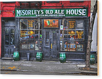 Mcsorley's  In Color Wood Print by Randy Aveille