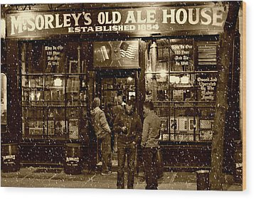 Mcsorley's Old Ale House Wood Print by Randy Aveille