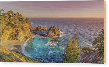 Wood Print featuring the photograph Mcway Falls Big Sur California by Scott McGuire