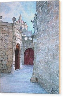 Mdina The Old City Wood Print by Martin Formosa