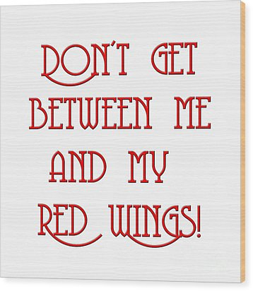 Wood Print featuring the digital art Me And My Red Wings 1 by Andee Design