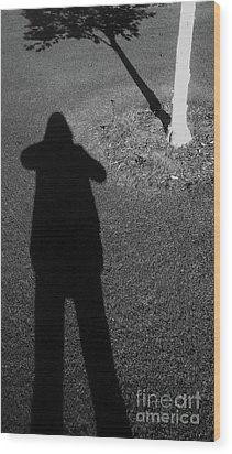 Me And My Shadow Wood Print by Nareeta Martin