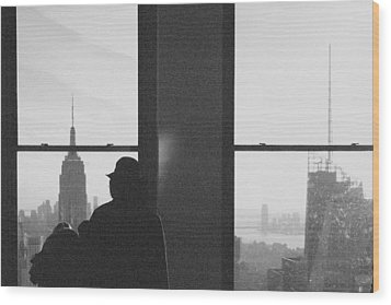 Me And Nyc Wood Print by J Montrice