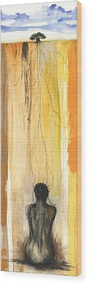 Me Time Wood Print by Anthony Burks Sr