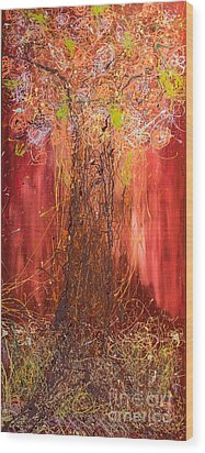 Me Tree Wood Print by Gallery Messina