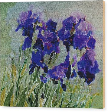 Wood Print featuring the photograph Meadow Iris by Linde Townsend
