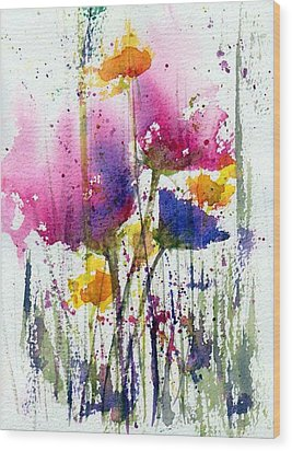 Meadow Medley Wood Print by Anne Duke