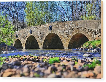 Wood Print featuring the photograph Meadows Road Bridge by DJ Florek