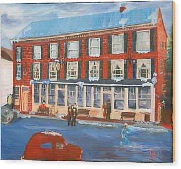 Mealeys Tavern Wood Print by Gloria Condon