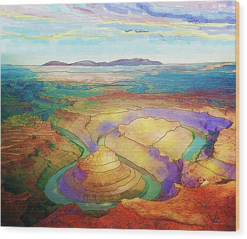 Meander Canyon Wood Print