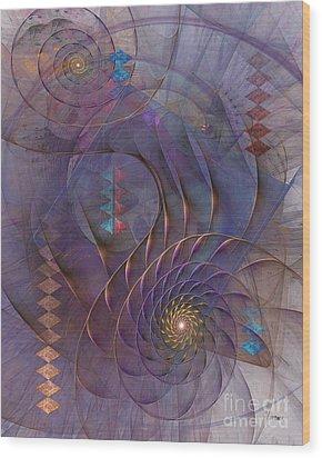 Meandering Acquiescence Wood Print by John Robert Beck