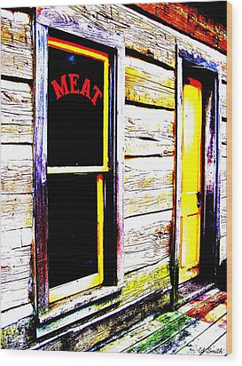 Meat Market Wood Print by Ed Smith