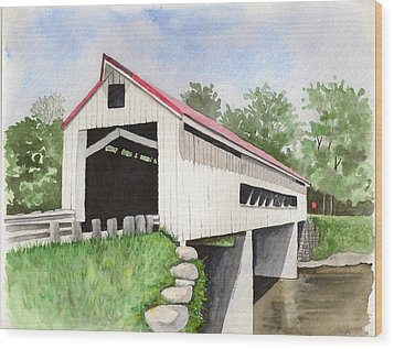Mechanicsville Rd Bridge Wood Print