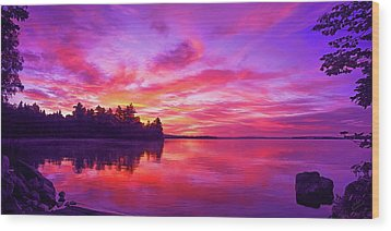 Wood Print featuring the photograph Meddybemps Sunrise by ABeautifulSky Photography