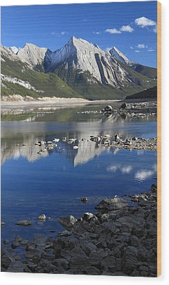 Medecine Lake Jasper National Park Alberta Canada Wood Print by Pierre Leclerc Photography