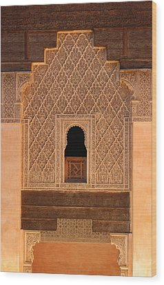 Wood Print featuring the photograph Medersa Ben Youssef by Ramona Johnston