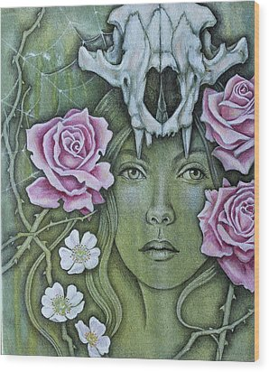 Wood Print featuring the mixed media Medicinae by Sheri Howe