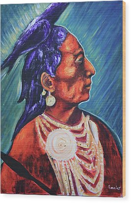Medicine Crow After E.s. Curtis Wood Print