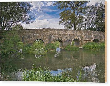 Medieval Bridge Wood Print